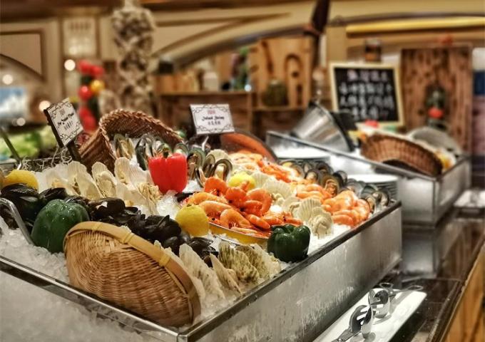 澳门励庭海景酒店珀克餐厅自助晚餐