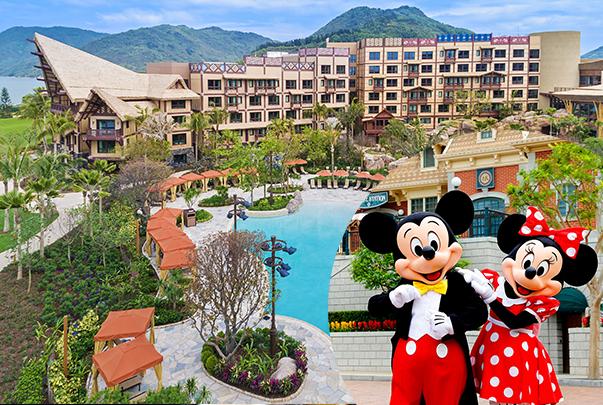 迪士尼探索家度假酒店一间一晚+香港迪士尼乐园一日门票